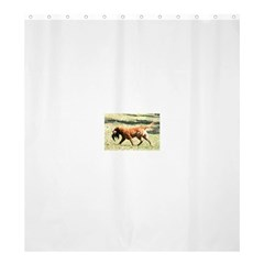 Chesapeake Bay Retriever Retrieving Shower Curtain 66  x 72  (Large)