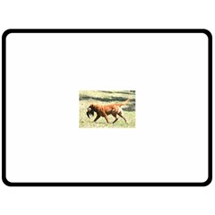 Chesapeake Bay Retriever Retrieving Fleece Blanket (Large)
