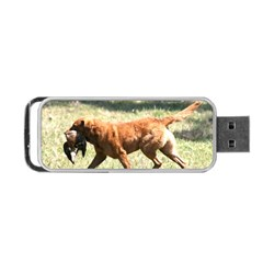 Chesapeake Bay Retriever Retrieving Portable USB Flash (One Side)