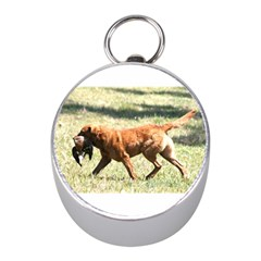 Chesapeake Bay Retriever Retrieving Mini Silver Compasses