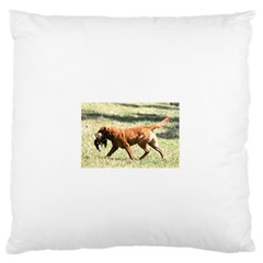 Chesapeake Bay Retriever Retrieving Large Flano Cushion Cases (One Side)