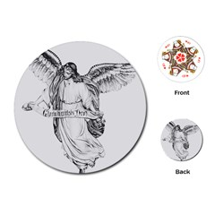 Angel Drawing Playing Cards (Round)