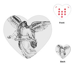Angel Drawing Playing Cards (Heart)