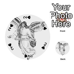 Angel Drawing Playing Cards 54 (Round)