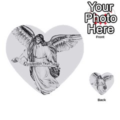 Angel Drawing Multi-purpose Cards (Heart)
