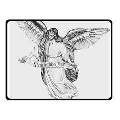 Angel Drawing Fleece Blanket (Small)