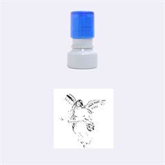 Angel Drawing Rubber Round Stamps (Small)