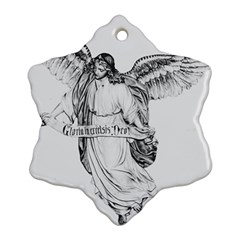 Angel Drawing Snowflake Ornament (2-Side)