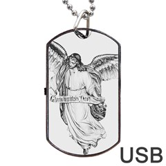 Angel Drawing Dog Tag USB Flash (Two Sides)