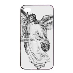 Angel Drawing Apple iPhone 4/4s Seamless Case (Black)