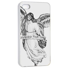 Angel Drawing Apple iPhone 4/4s Seamless Case (White)