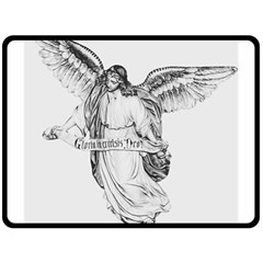 Angel Drawing Double Sided Fleece Blanket (Large)