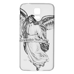 Angel Drawing Samsung Galaxy S5 Back Case (White)
