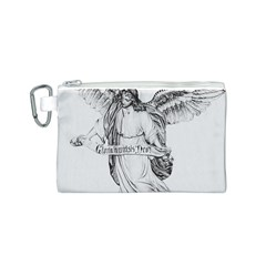 Angel Drawing Canvas Cosmetic Bag (S)