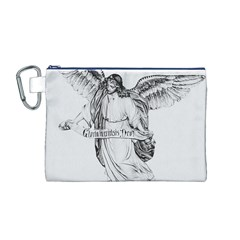 Angel Drawing Canvas Cosmetic Bag (M)