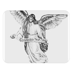 Angel Drawing Double Sided Flano Blanket (Large)