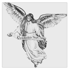 Angel Drawing Large Satin Scarf (Square)