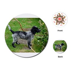 Black Roan English Cocker Spaniel Full 2 Playing Cards (round)