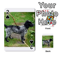Black Roan English Cocker Spaniel Full 2 Playing Cards 54 Designs
