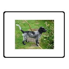 Black Roan English Cocker Spaniel Full 2 Fleece Blanket (Small)