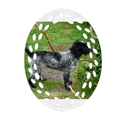 Black Roan English Cocker Spaniel Full 2 Ornament (Oval Filigree)