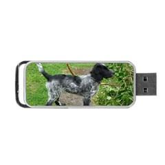 Black Roan English Cocker Spaniel Full 2 Portable USB Flash (Two Sides)