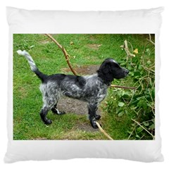 Black Roan English Cocker Spaniel Full 2 Large Flano Cushion Cases (One Side)