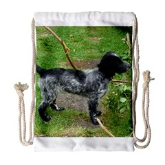 Black Roan English Cocker Spaniel Full 2 Drawstring Bag (Large)