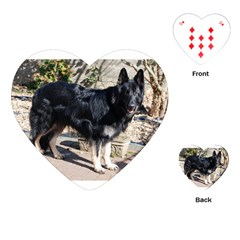 Black German Shepherd Full Playing Cards (heart)