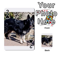 Black German Shepherd Full Playing Cards 54 Designs