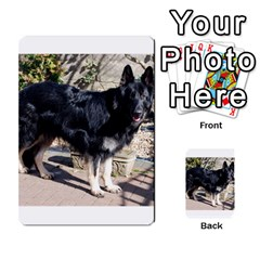 Black German Shepherd Full Multi-purpose Cards (Rectangle)