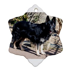 Black German Shepherd Full Snowflake Ornament (2-Side)