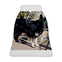 Black German Shepherd Full Bell Ornament (2 Sides)