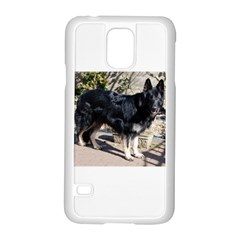 Black German Shepherd Full Samsung Galaxy S5 Case (White)