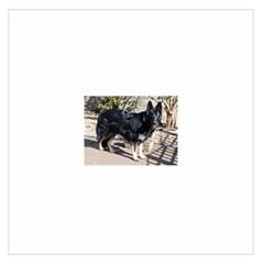 Black German Shepherd Full Large Satin Scarf (Square)