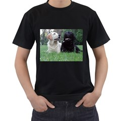 2 Labs Men s T-Shirt (Black) (Two Sided)