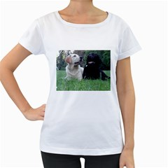 2 Labs Women s Loose-Fit T-Shirt (White)