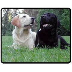 2 Labs Fleece Blanket (Medium)