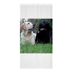 2 Labs Shower Curtain 36  x 72  (Stall)