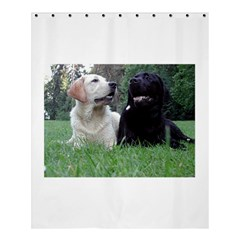 2 Labs Shower Curtain 60  x 72  (Medium)