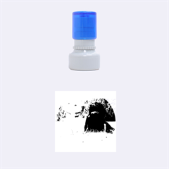 2 Labs Rubber Round Stamps (Small)