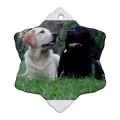 2 Labs Snowflake Ornament (2-Side)