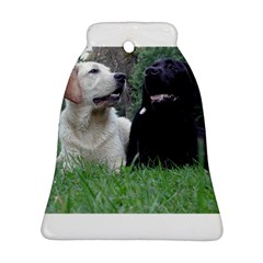 2 Labs Bell Ornament (2 Sides)