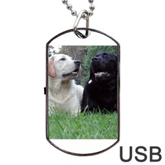 2 Labs Dog Tag USB Flash (One Side)