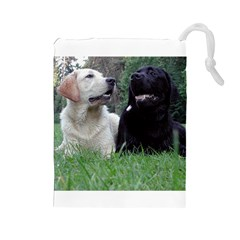 2 Labs Drawstring Pouches (large)