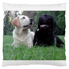 2 Labs Standard Flano Cushion Cases (One Side)