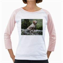 Yellow Lab Sitting Girly Raglans