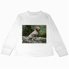 Yellow Lab Sitting Kids Long Sleeve T-Shirts