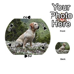 Yellow Lab Sitting Playing Cards 54 (Round)