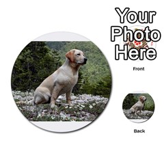 Yellow Lab Sitting Multi-purpose Cards (Round)